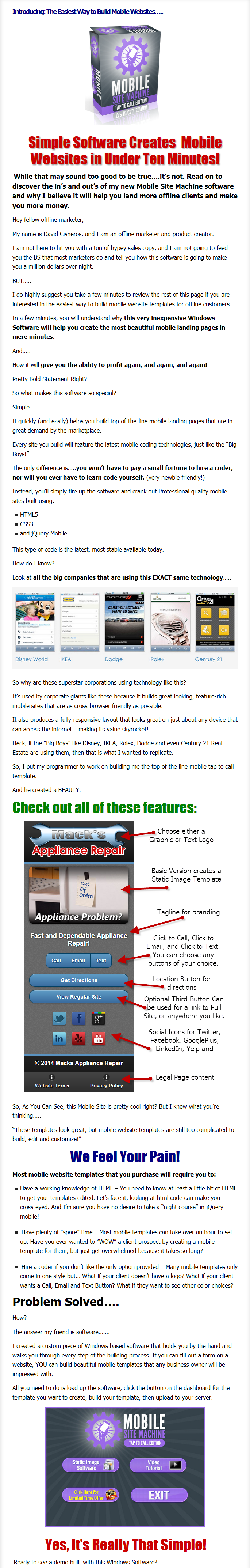 [GET] FREE Mobile Website Template Software: Build Mobile Templates and Make $$$